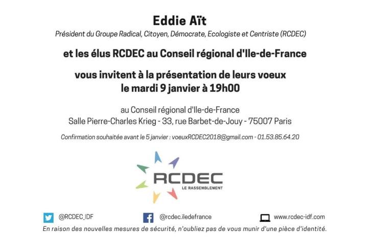 Invitation - Voeux du Groupe RCDEC - Le rassemblement
